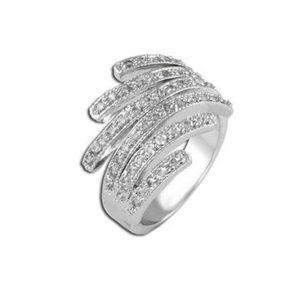 925 Silver Pavé Wisps Ring